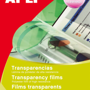 APLI Transparencias Caja de 100 ud De poliester De 100 micras A4 859