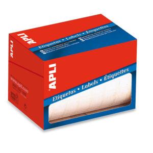 APLI Etiquetas en rollo 1500 ud 20×50 mm Blancas 1686