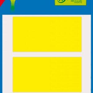 Bolsa 5 Hojas Etiquetas Color Amarillo 34×67 mm