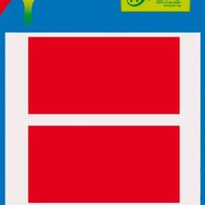 Bolsa 5 Hojas Etiquetas Color Rojo 34×67 mm