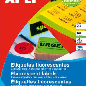 APLI PAQ. 20H ETIQUETAS AMARILLO FLUOR 64,0 x 33,9