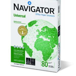 NAVIGATOR Universal. Papel multifuncion paquete 500h 80 g. A4