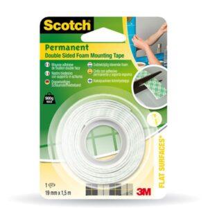 SCOTCH Cinta adhesiva  Doble cara 19 mmx1,5 m  70016072814