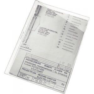 CAJA 100 FUNDAS PVC Fº C/ OBLICUO 4 TALADROS GRAFOPLAS 05740000