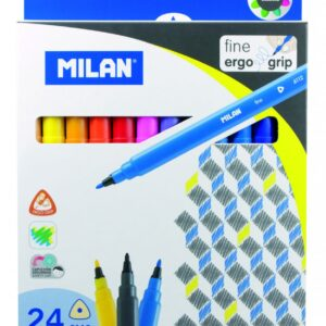 MILAN Caja 24 rotuladores Fine Ergo