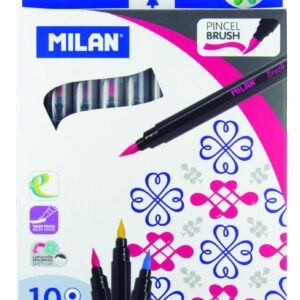 MILAN Caja 10 rotuladores punta de pincel