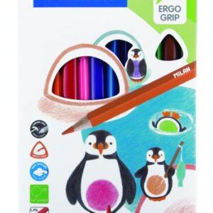 MILAN Caja de 12 lápices de colores triangulares