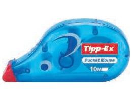 TIPP-EX Cinta correctora Pocket Mouse 4,2 mm x 10 m Frontal Con tapa protectora