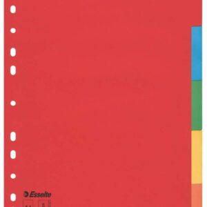ESSELTE Separador cartón A-4 5 posiciones colores
