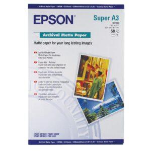 EPSON Papel fotografico S041340 Paquete 50 hojas A3+ 192 G Mate C13S041340