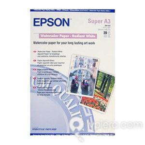 EPSON Papel Inyeccion Acuarela 20 Hojas A3 C13S041352