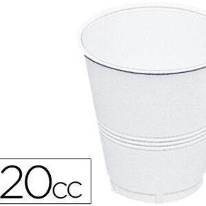 PAQUETE 100 VASOS PLASTICO BLANCO 220 CC. AGUA LIDERPAPEL