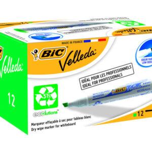 BIC Marcador pizarra blanca Punta biselada Tinta base alcohol Verde 904949