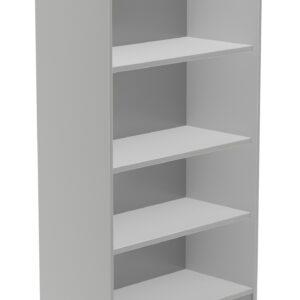 ROCADA Armario librería Serie Store Fabricado en Melamina 156x90x45cm Gris-Gris