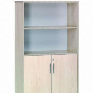 ROCADA Armario de puertas bajas Serie Store Con cerradura 156x90x45cm Haya-Haya
