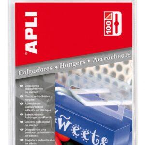 PAQ.100 COLGADORES AUTOADHESIVOS 34X48 APLI 10586
