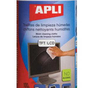 BOTE 100 TOALLITAS LIMPIADORAS PANTALLAS TFT/LCD 11302