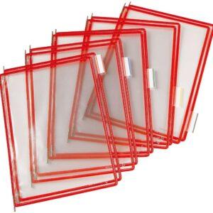 TARIFOLD Funda con Pivotes 10ud A4 Rojo 114003