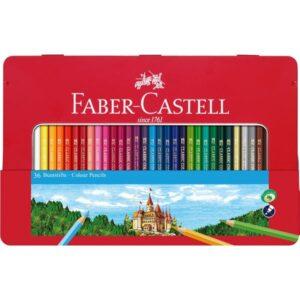 FABER-CASTELL Estuche de metal 36 lapices de color clasicos