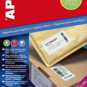 APLI Caja 100 hojas etiquetas blancas extra fuertes i/l/c 210,0×148,0 mm