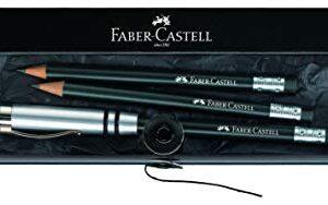 FABER-CASTELL ESTUCHE 3 LAPICES PERFECTOS NEGRO CON GOMA Y APURALAPIZ DE ALUMINIO 118351