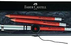 FABER-CASTELL ESTUCHE 3 LAPICES PERFECTOS MARRON CON GOMA Y APURALAPIZ DE ALUMINIO 118351