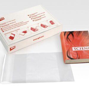 CAJA 100 FORROS DE LIBROS AJUSTABLE PVC 220 mm APLI 12485