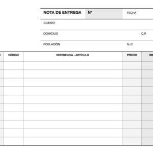 TALONARIO DE ENTREGA 1/8 APAISADO TRIPLICADO A-54 APLI 12697