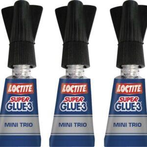 LOCTITE Adhesivo Loctite Super Glue-3 Mini Trío 3 ud 1 gr / ud Resistente al agua  SG3TRIO