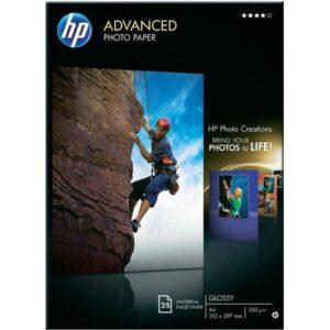 HEWLETT PACKARD Papel fotografico Paquete 25 hojas  Satinado avanzado Q5456A