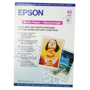 EPSON Papel fotografico Paquete 50 hojas A3 167 G Mate C13S041261