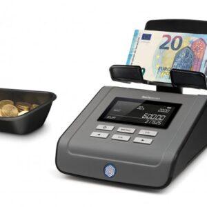 SAFESCAN Balanza cuenta monedas y billetes, pesa y cuenta recibos, bonos y cupones 6165 131-0573