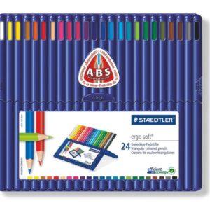 STAEDTLER Estuche lapices ergosoft Colores surtidos 24 ud Acuarelables 157 SB24-I