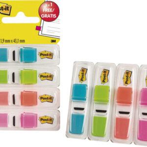 POST-IT Indices adhesivos Index Pack 3+1 gratis 25,4×43,1 Colores surtidos