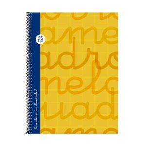 LAMELA Cuaderno espiral 4º Naranja 80 h cuadrícula 2,5 7CTE002N