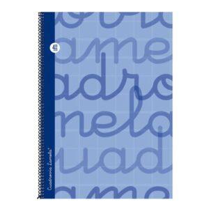LAMELA Cuaderno espiral Folio Azul 80 h cuadrícula 4 7FTE004A