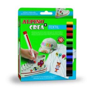 ALPINO Estuche rotuladores Colores Surtidos 10 ud Textil AR000132