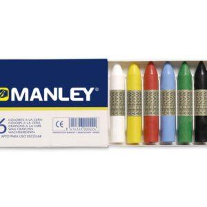 MANLEY Ceras Manley Caja 6 ud Colores surtidos MNC00022
