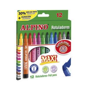 ALPINO Rotuladores Punta Maxi Estuche 12 ud Punta gruesa Colores Surtidos