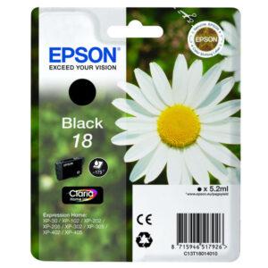 EPSON Cartuchos Inyeccion 18 Negro C13T18014012