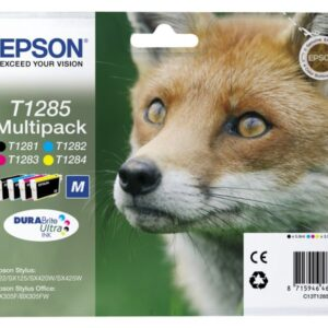 EPSON Cartuchos Inyeccion T1285 Negro/Amarillo/Cyan/Magenta Blister Multipack 4 C13T12854012