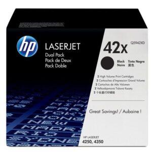 HEWLETT PACKARD Toner Laser 42X Negro Pack 2  Q5942XD