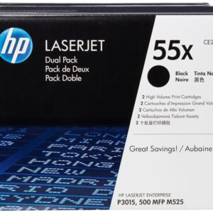 HEWLETT PACKARD Toner Laser 55X Negro Pack 2 12.500pg  CE255XD