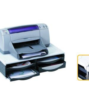 FELLOWES Soporte para impresora 13,6×53,8×36,2 cm 4 cajones 24004