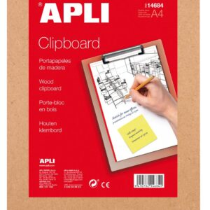 APLI CLIPBOARD BASE MADERA A4 14684