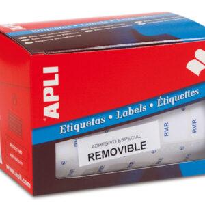 APLI Etiquetas en rollo 2520 ud 16×22 mm Blanca 10087