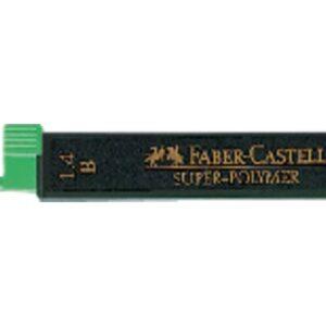 FABER CASTELL Mina Super Polymer Estuche 6ud Trazo 1.4 mm B   121411