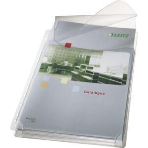 LEITZ Pack 5 ud fundas fuelle A4 con solapa pvc 170micras