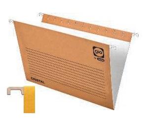 GIO Caja 25 uds. Carpeta colgante 240 x 315 mm Cristal Kraft Bicolor Visor superior 80 mm 400021947