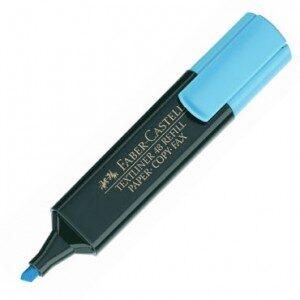 FABER CASTELL Marcador fluorescente Textliner 48 Trazo 1, 2 y 5 mm Punta biselada Azul 154851